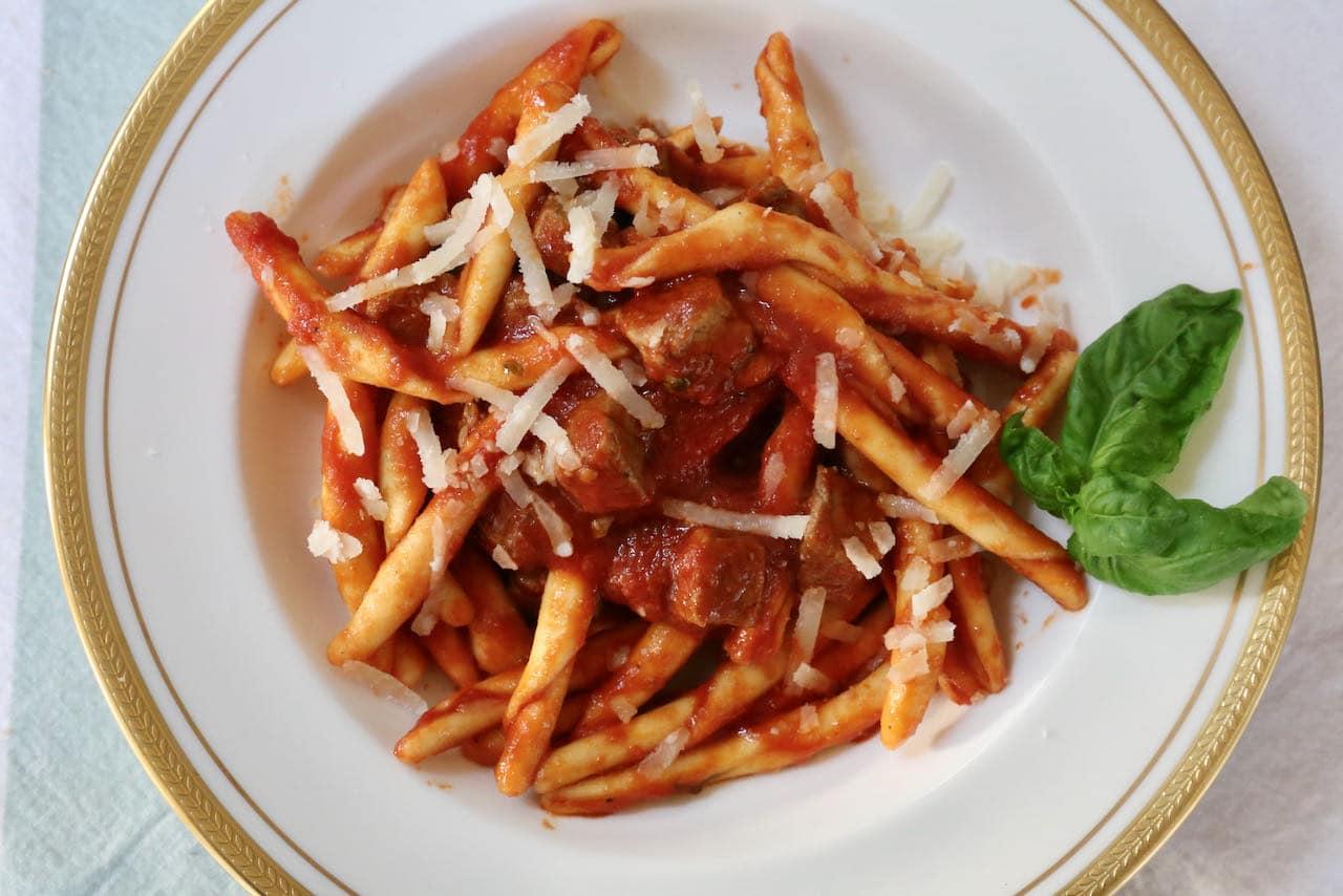 Maccheroni al Ferretto Pasta with Beef Ragu Recipe