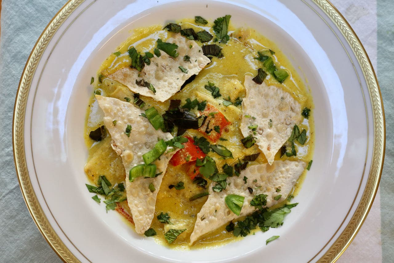 Papad Ki Subji is a popular curry from India's state of Rajasthan.