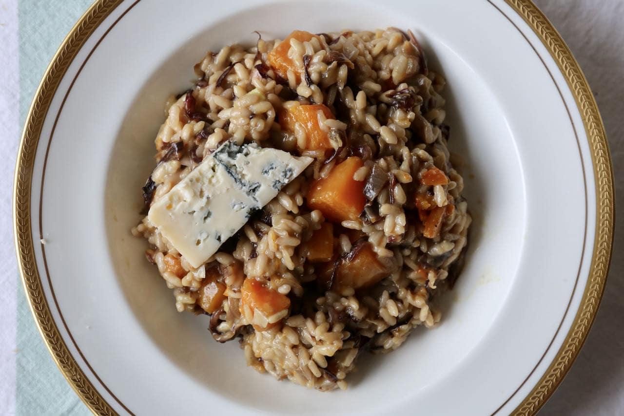 Vegetarian Gorgonzola Risotto al Radicchio Recipe