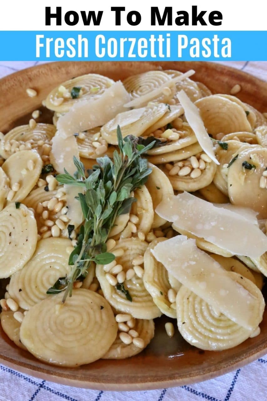 Save our Corzetti Pasta recipe to Pinterest!