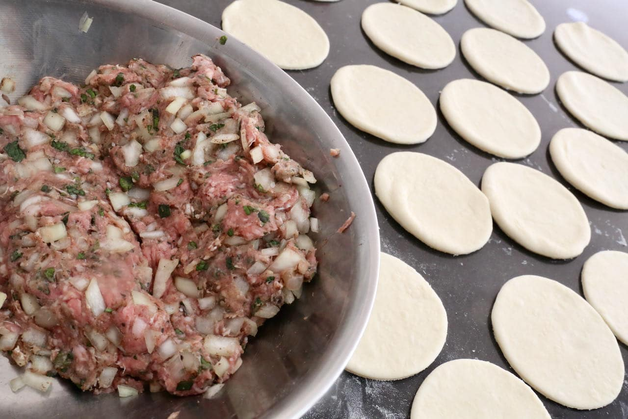 Homemade Lamb Dumplings are prepared similar to ravioli or pierogies.
