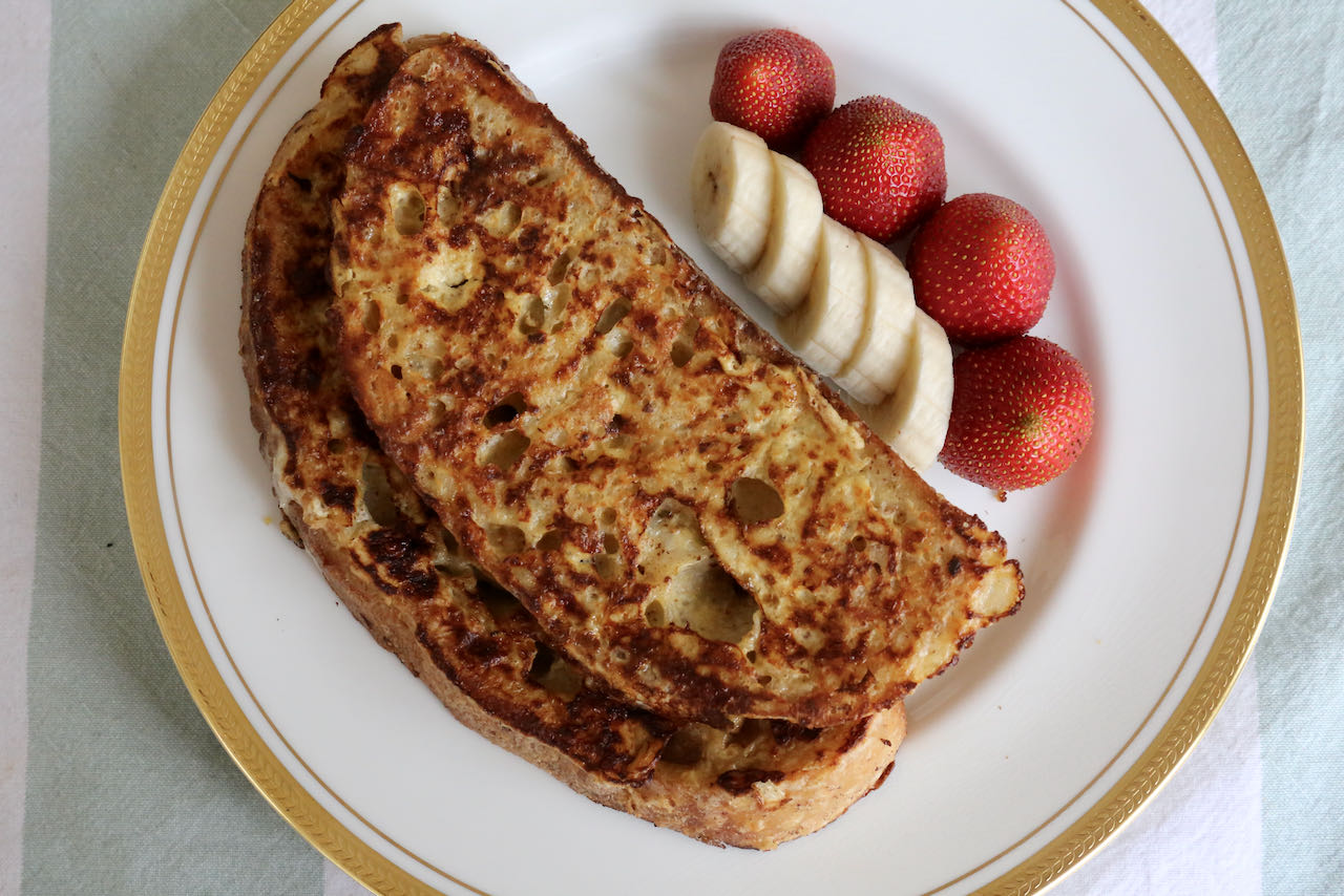 We love serving Sourdough French Toast for brunch on Christmas morning, Father's Day, Mother's Day and Easter.