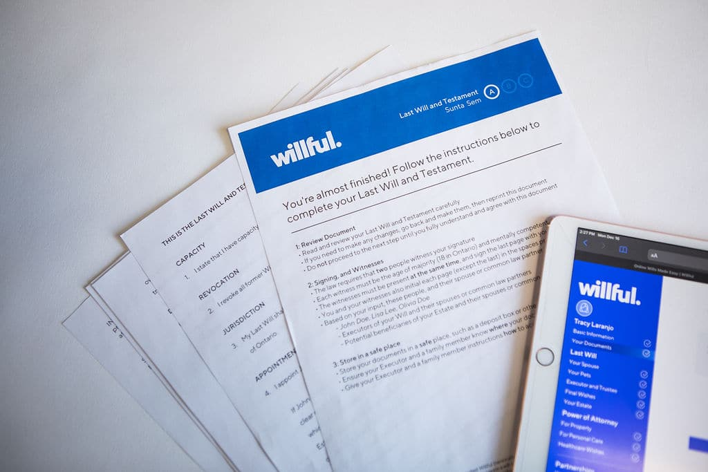 As a Toronto resident I was keen to learn how to make a will in Ontario. Willful made the process easy online.