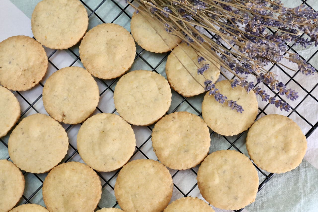 Lemon Lavender Cookies are a perfect dessert to enjoy at Mother's Day, summer potluck dinners or High Tea.