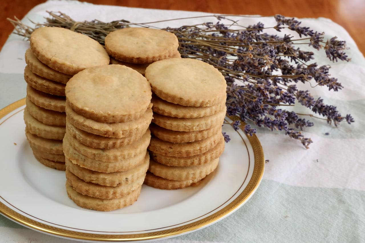 Lemon Lavender Shortbread Cookies Recipe