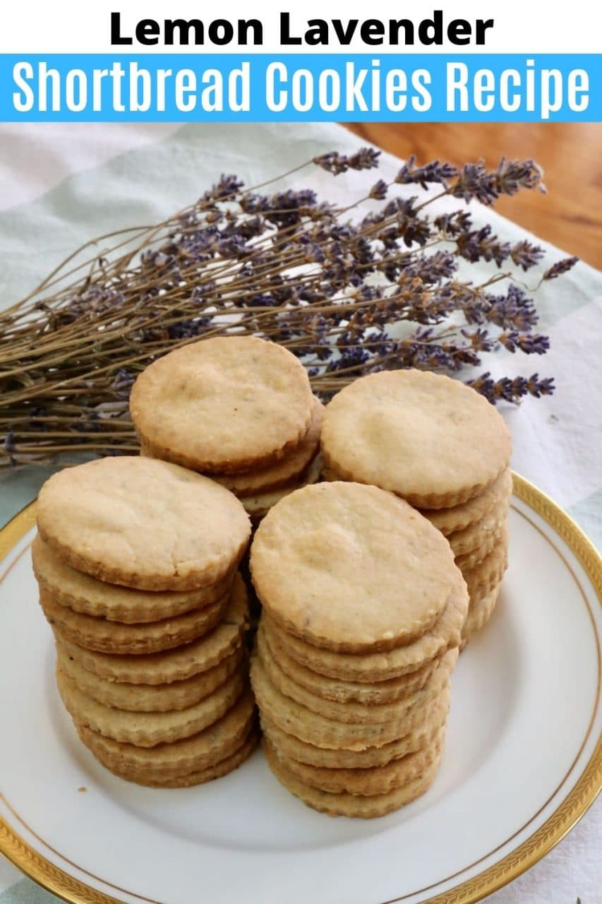 Save our Lemon Lavender Shortbread Cookies recipe to Pinterest!