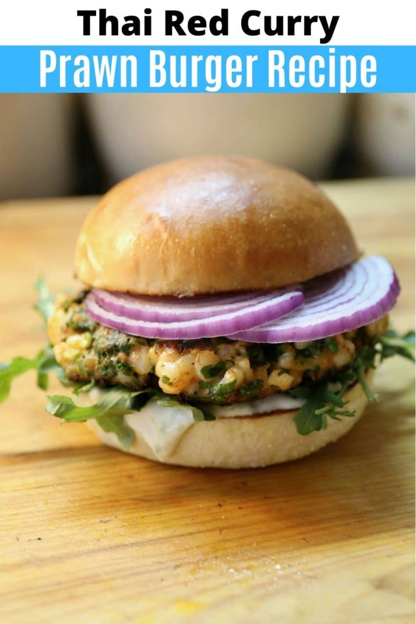 Save our Thai Curry Prawn Burger recipe to Pinterest!