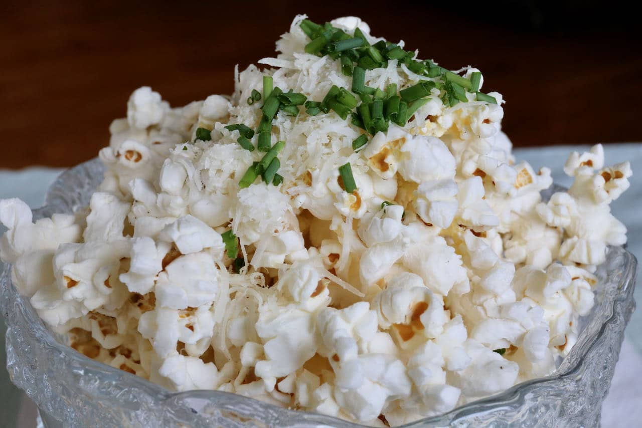 Air Fryer Popcorn is one of our favourite healthy vegetarian snack recipes.