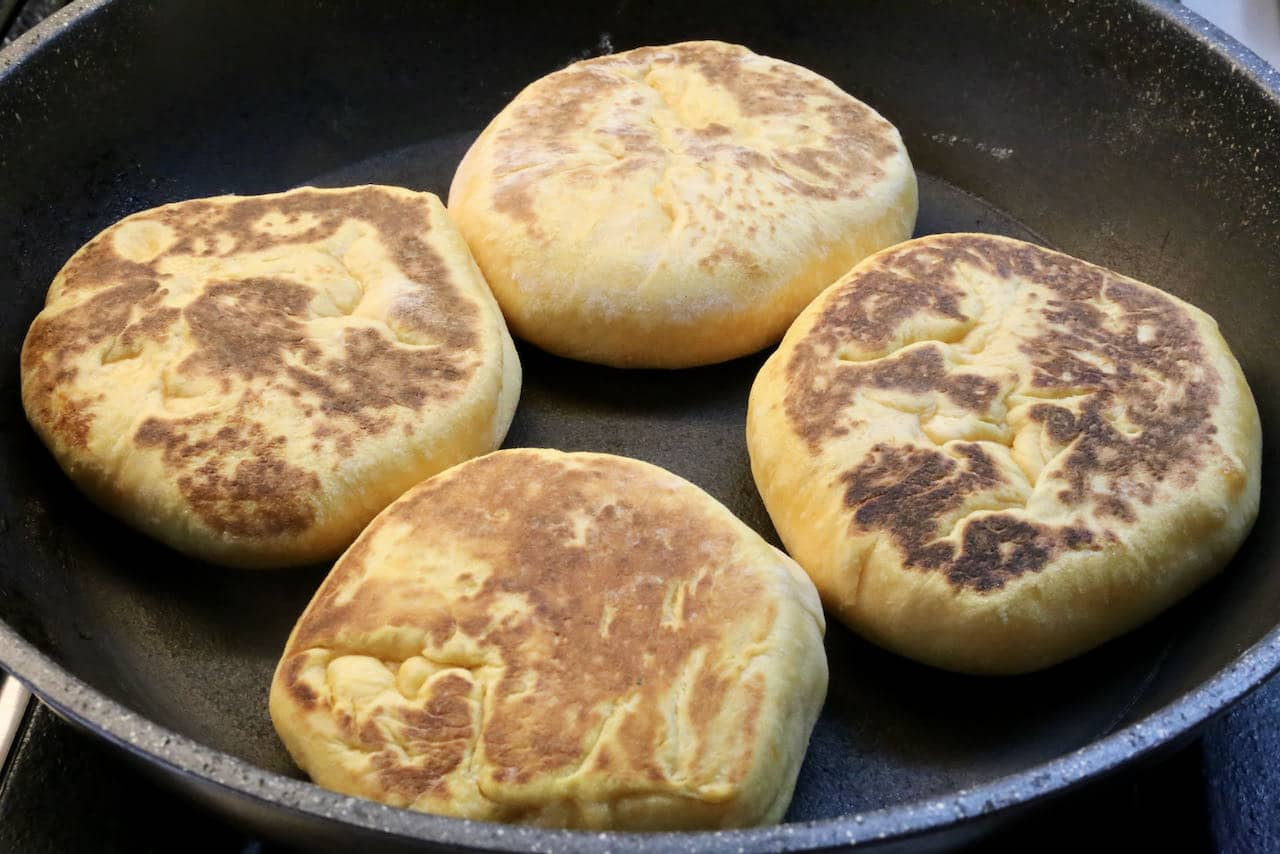 Our easy Portuguese roll recipe is prepared in a skillet or griddle.