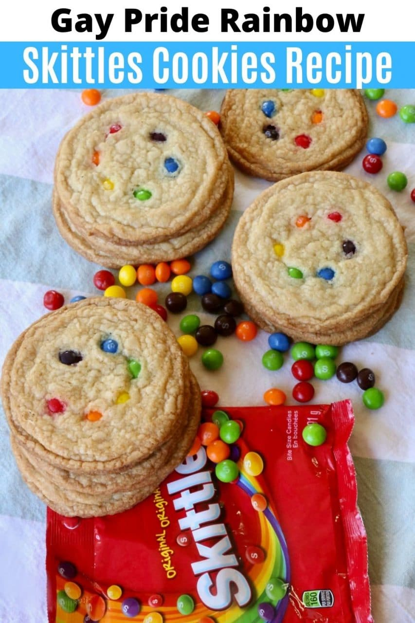 Save our Gay Pride Skittles Cookies recipe to Pinterest!