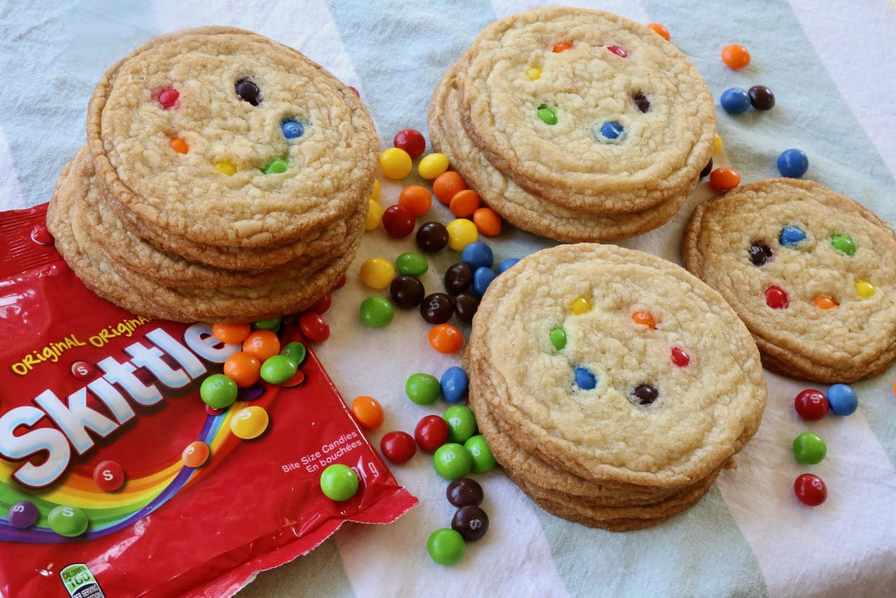 Now you're an expert on how to make the best Chewy Gay Pride Skittles Cookies!