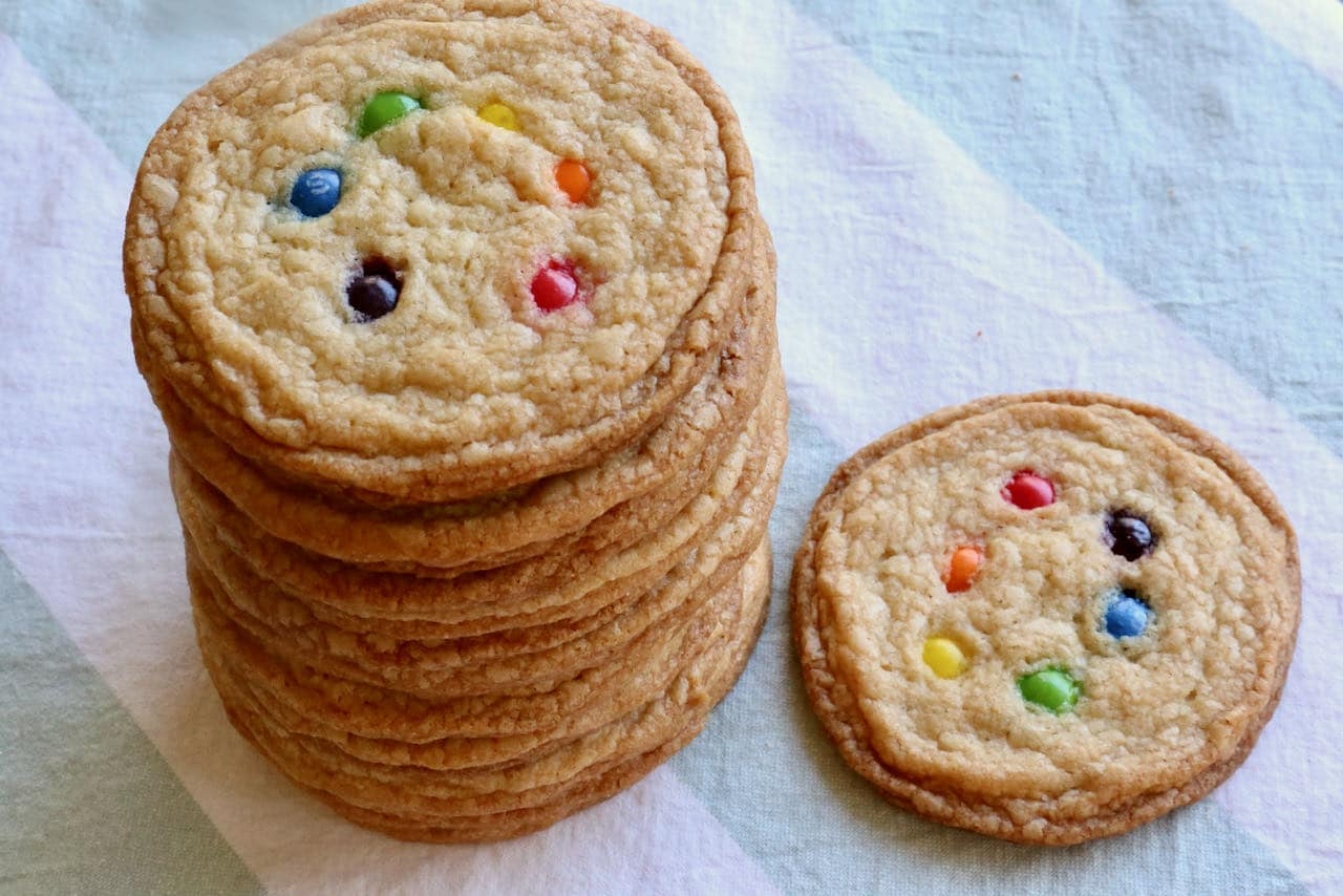 Our crunchy and chewy Skittles Cookies are a perfect snack or dessert for Gay Pride parties.
