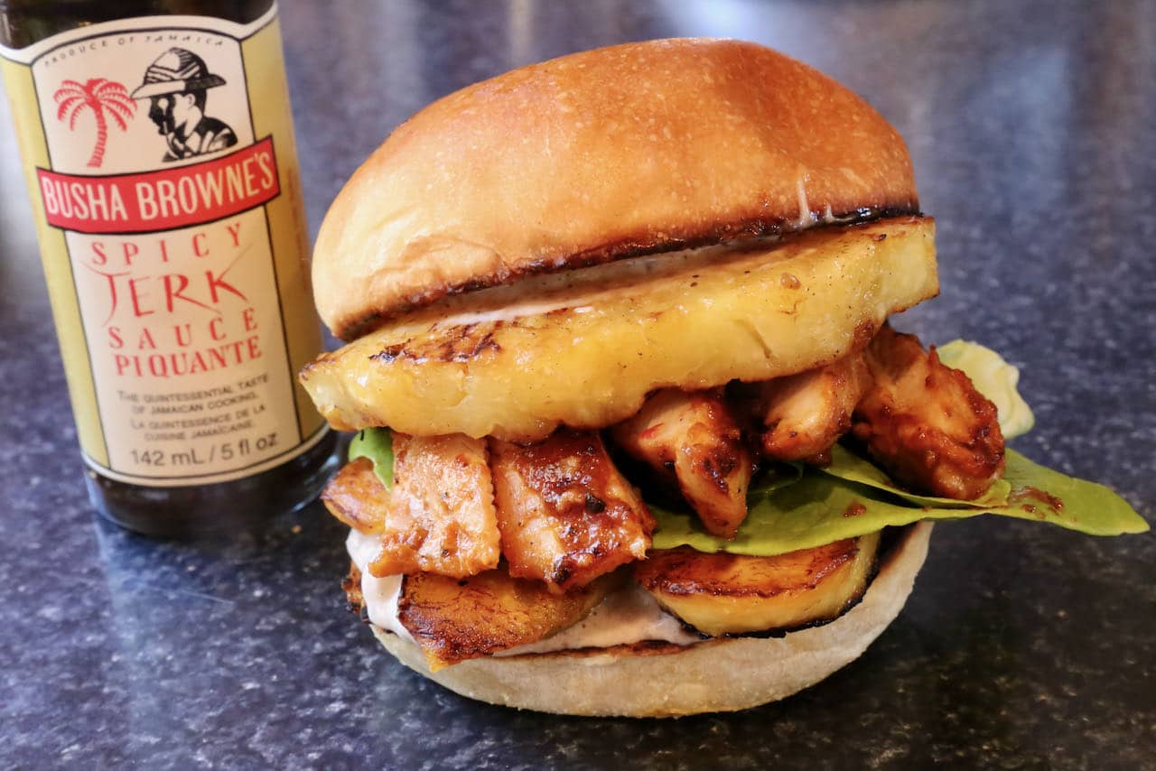 We love serving this Jerk Chicken Burger recipe at a summer barbecue or Caribbean themed dinner party.