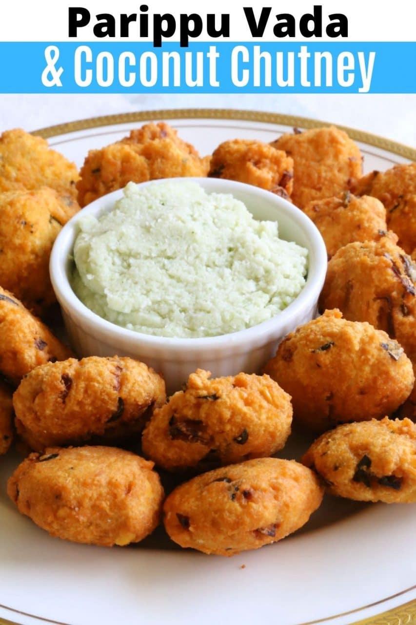 Save our healthy vegan Parippu Vada recipe to Pinterest!