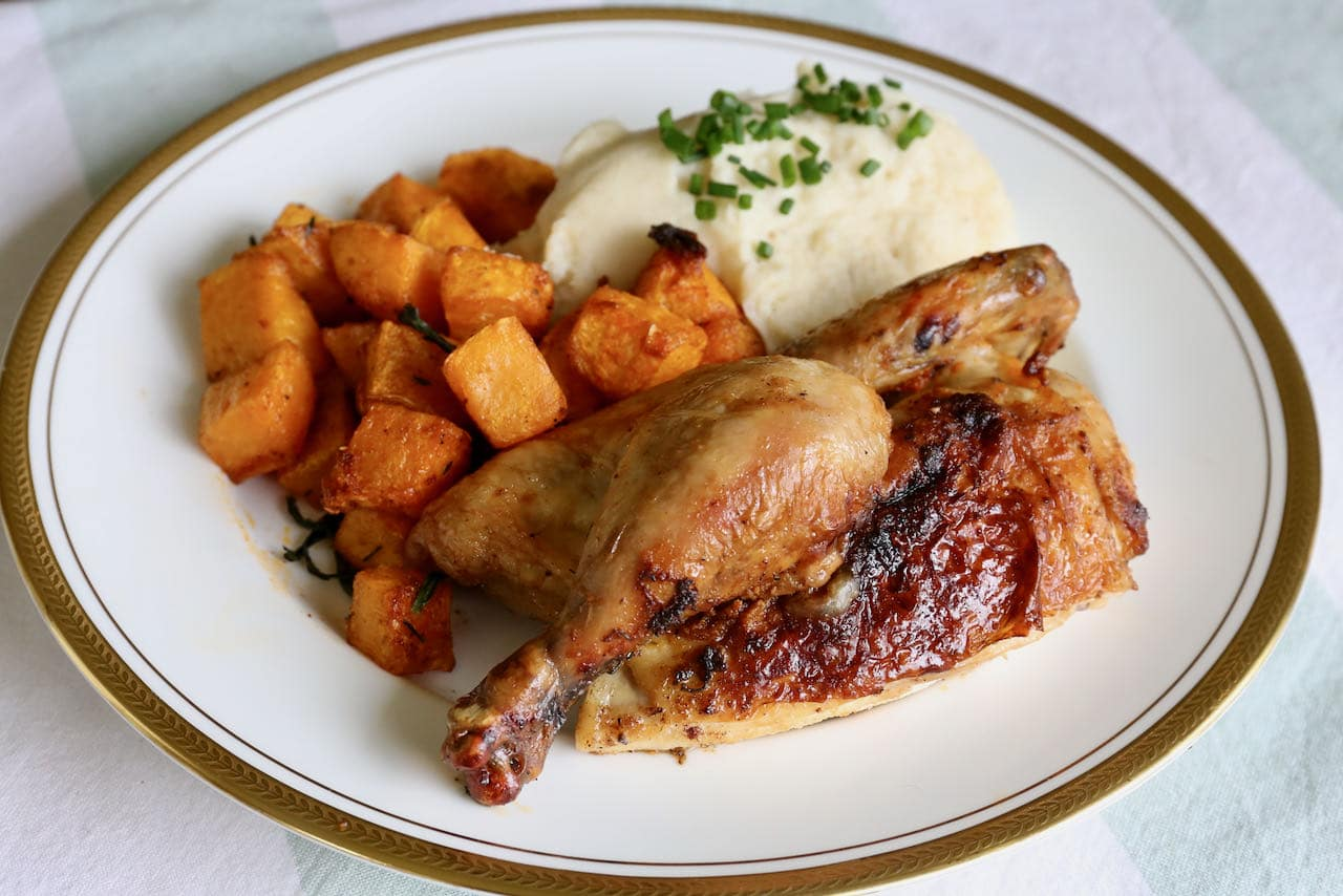 Easy Crispy Air Fried Cornish Hen Recipe