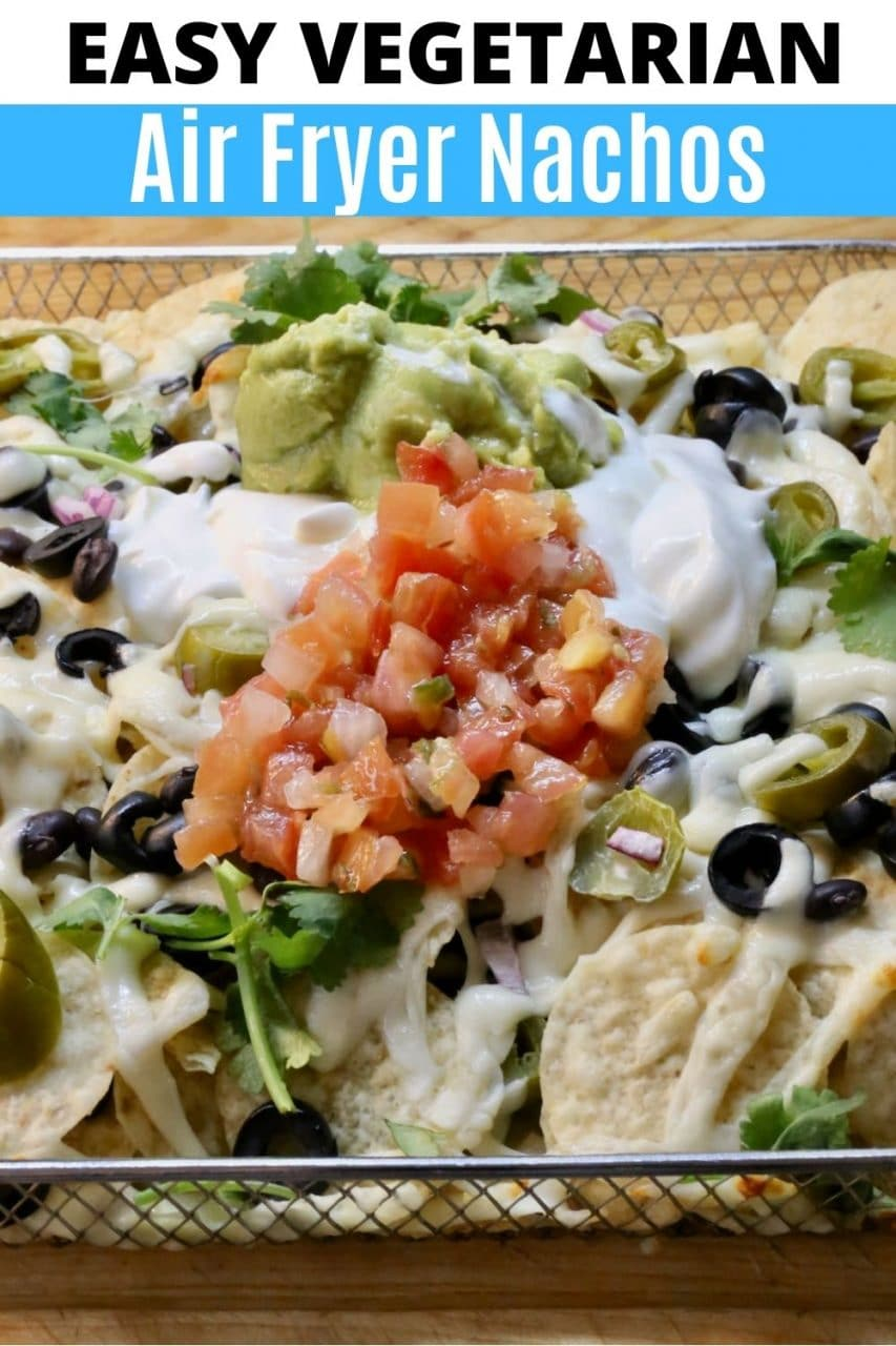 Save our easy Air Fryer Nachos recipe to Pinterest!