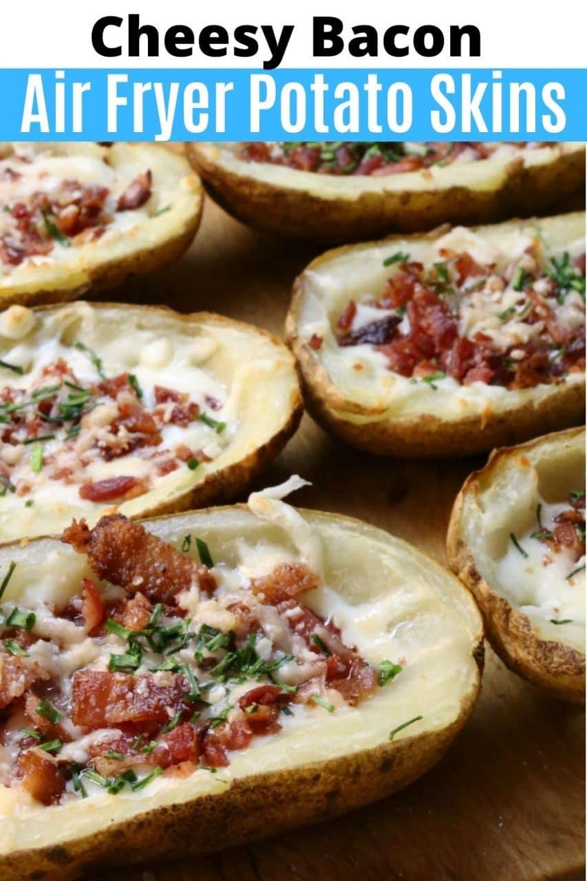 Save our Air Fryer Potato Skins recipe to Pinterest!