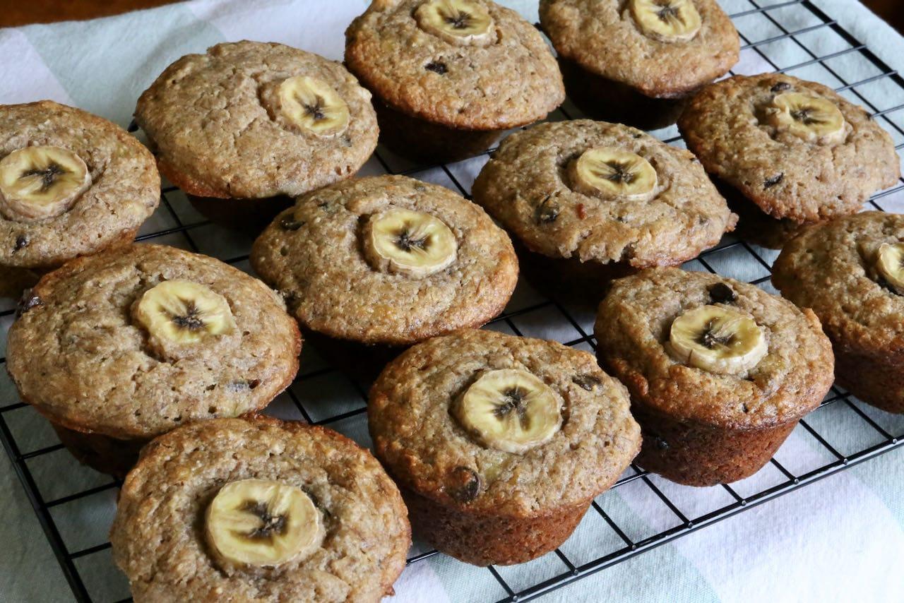 Buckwheat Gluten Free Banana Chocolate Chip Muffins Recipe