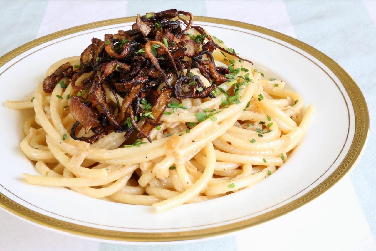Caramelized Shallot Pasta in Cream Sauce Recipe