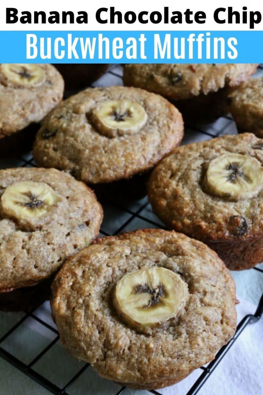 Save our Buckwheat Gluten Free Banana Chocolate Chip Muffins recipe to Pinterest!