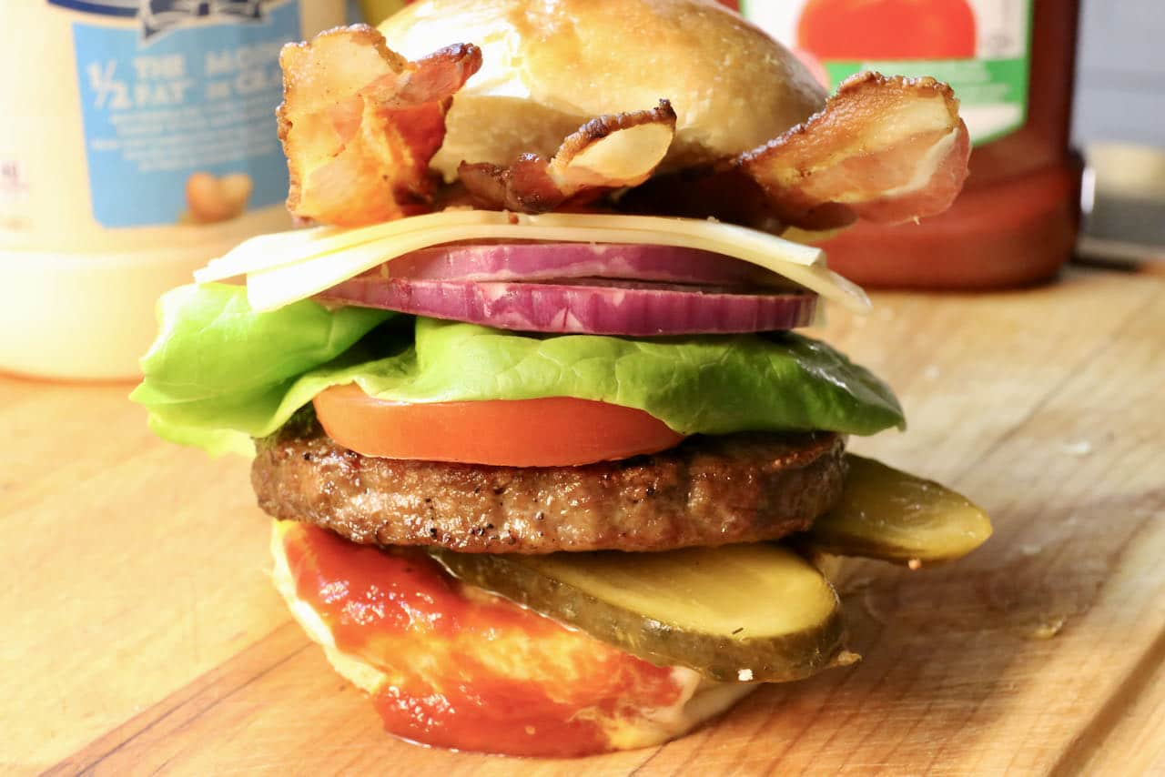 Air Fryer Frozen Burgers are a great idea for a kids birthday or when summer barbeque cravings hit in the winter.