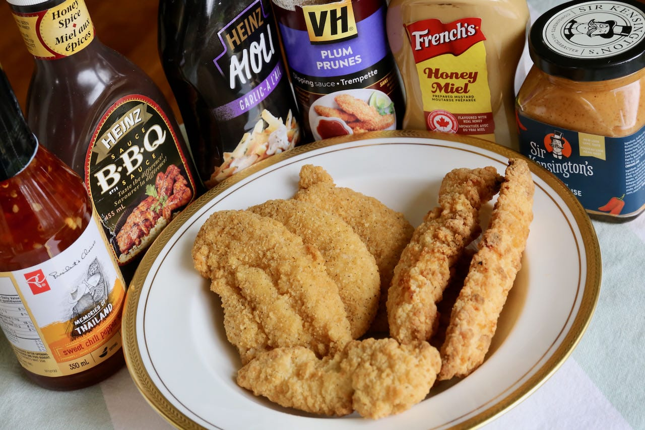 Serve crispy Air Fryer Frozen Chicken Fingers with your favourite dips.