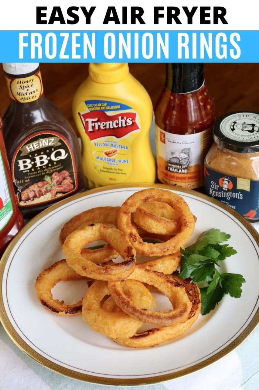Save our easy homemade Frozen Onion Rings In Air Fryer recipe to Pinterest!