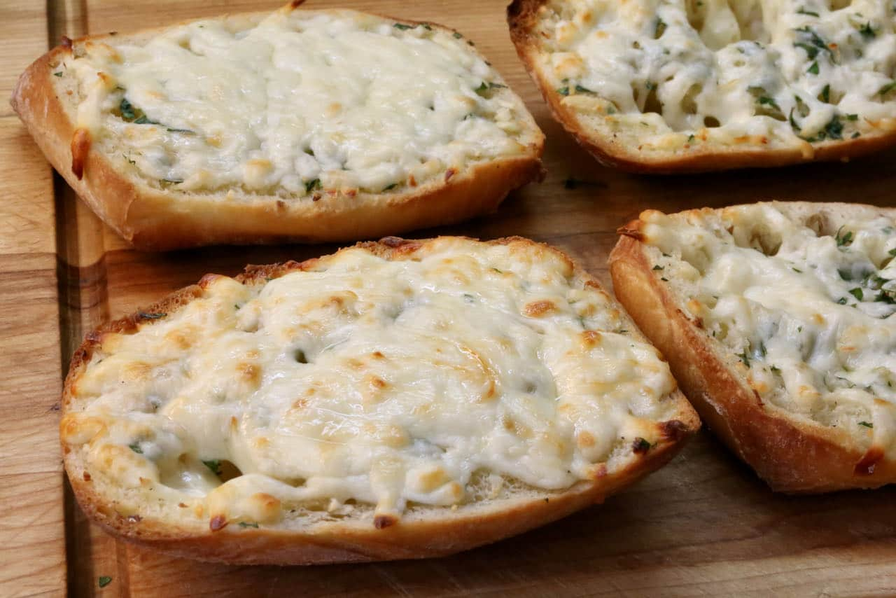 Easy Cheesy Garlic Bread In Air Fryer Recipe