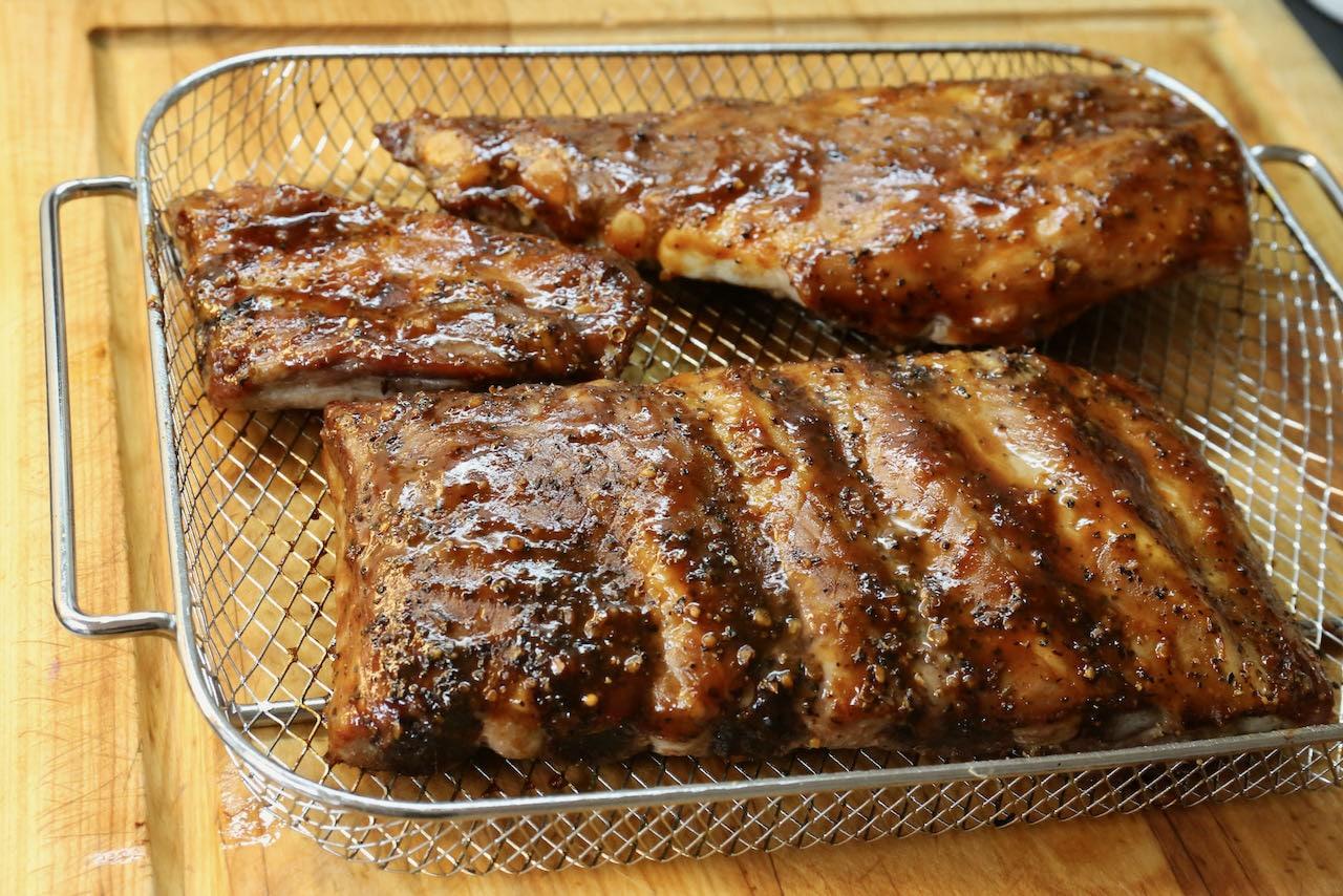 Smokey BBQ Bone In Air Fryer Pork Ribs Recipe