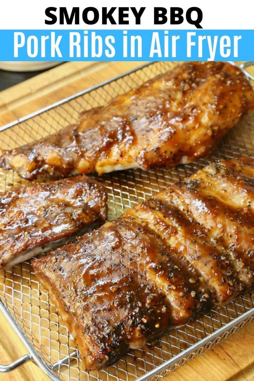 Save our Smokey Air Fryer Pork Ribs recipe to Pinterest!