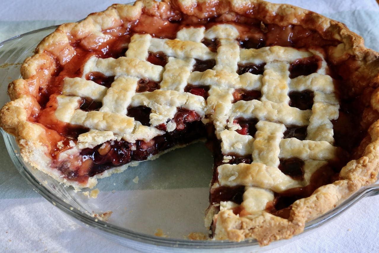 Let the pie cool to room temperature before slicing to ensure it holds its structure.
