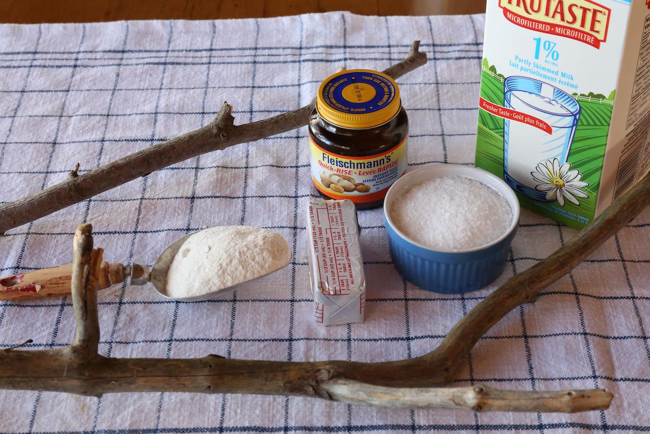 Campfire bread recipe ingredients.