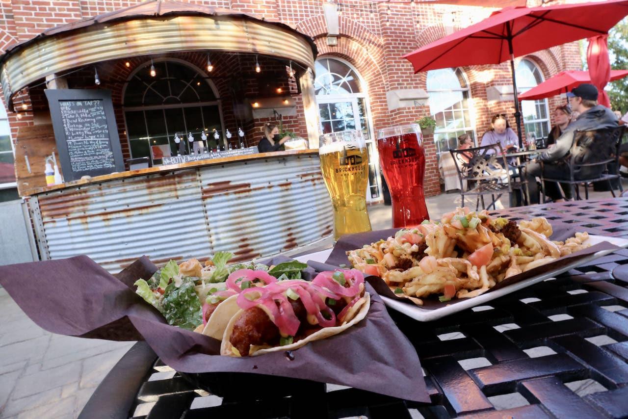 Enjoy a cheese-centric menu on the sunny patio at Brickhouse Brewpub.