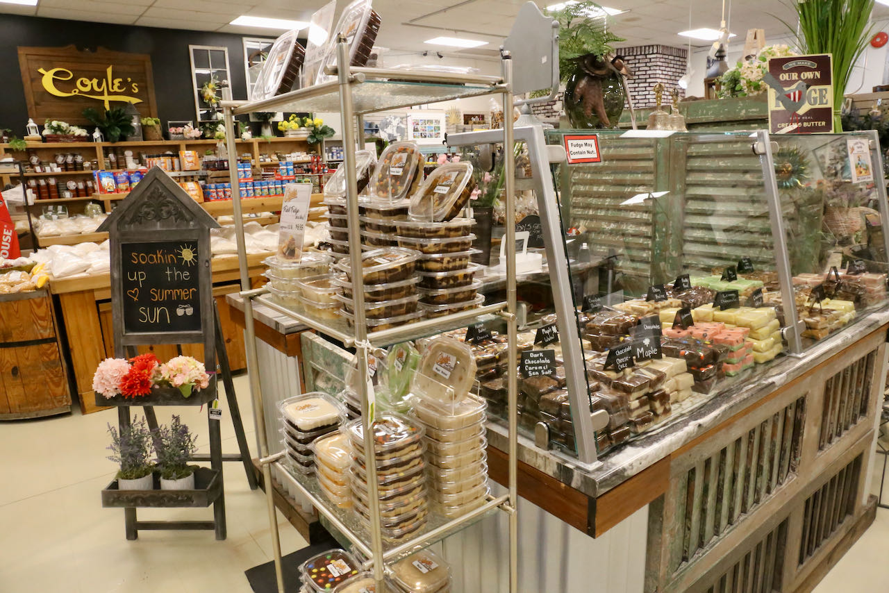 Coyle's Country Store sells heaps of homemade fudge prepared with local dairy.
