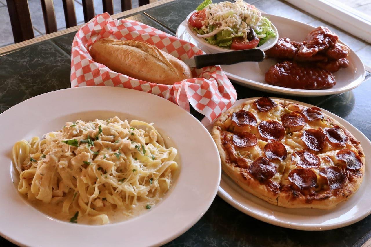 Enjoy a cheesy family friendly feast at Louie's Pizza & Pasta.