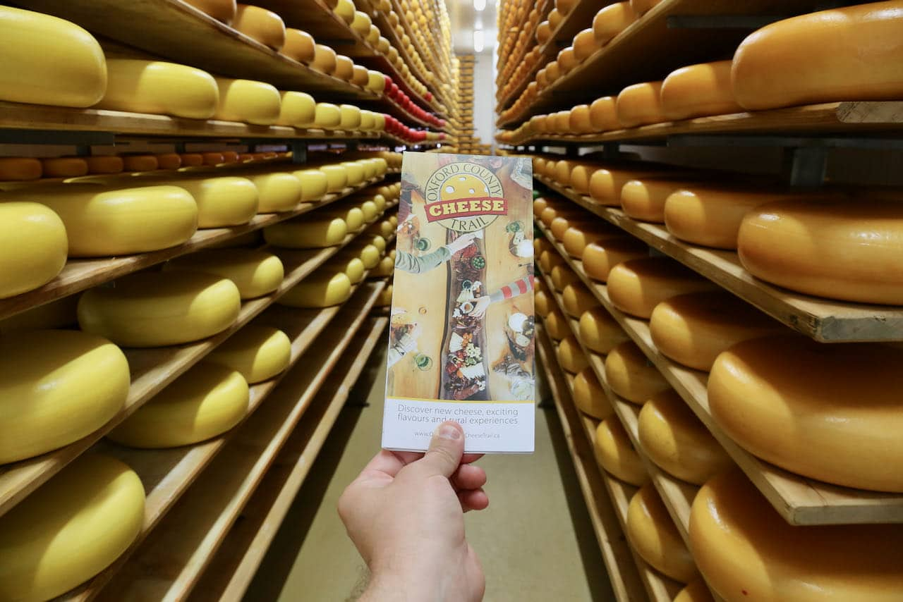 Oxford County Cheese Trail map brochure.