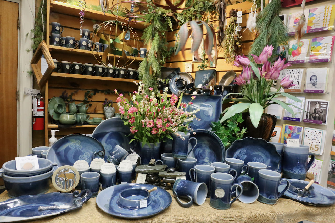 Patina's on the Oxford County Cheese Trail sells a fantastic selection of local pottery.