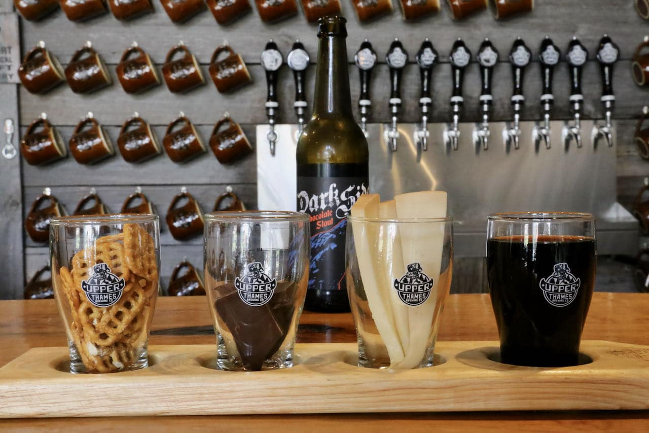 Upper Thame Brewing Company offers an Oxford County Cheese Trail tasting paired with stout, chocolate and fromage.