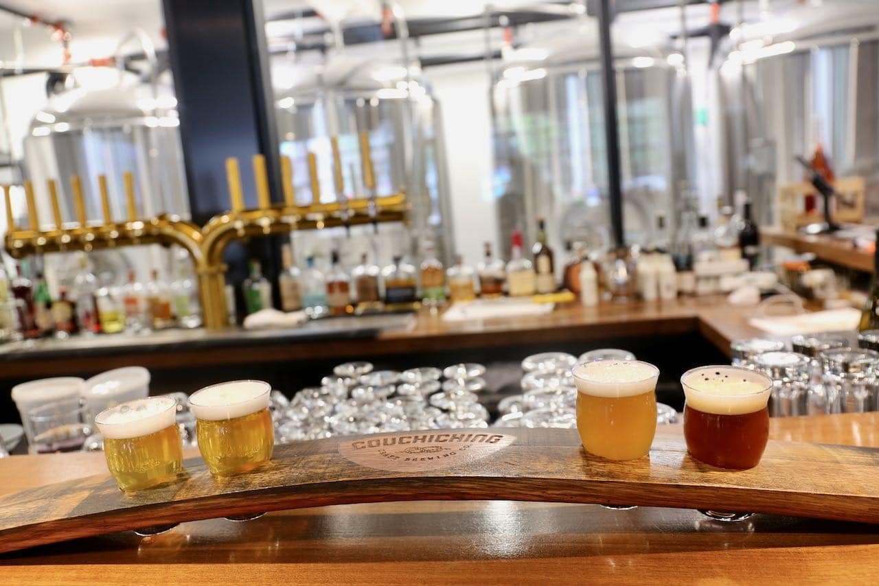 Enjoy a craft beer tasting at Couchiching Brewery in downtown Orillia.