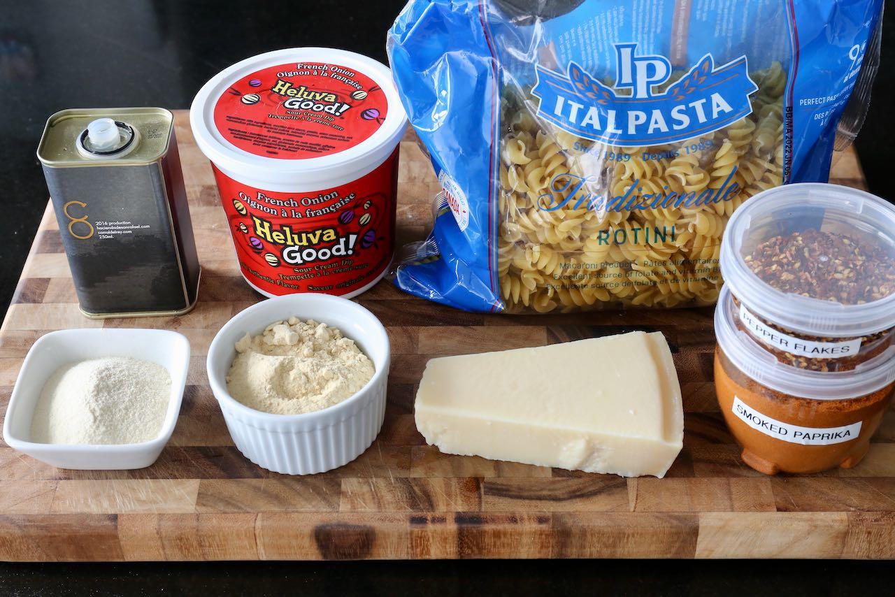 Air Fryer Pasta Chips Recipe Ingredients.