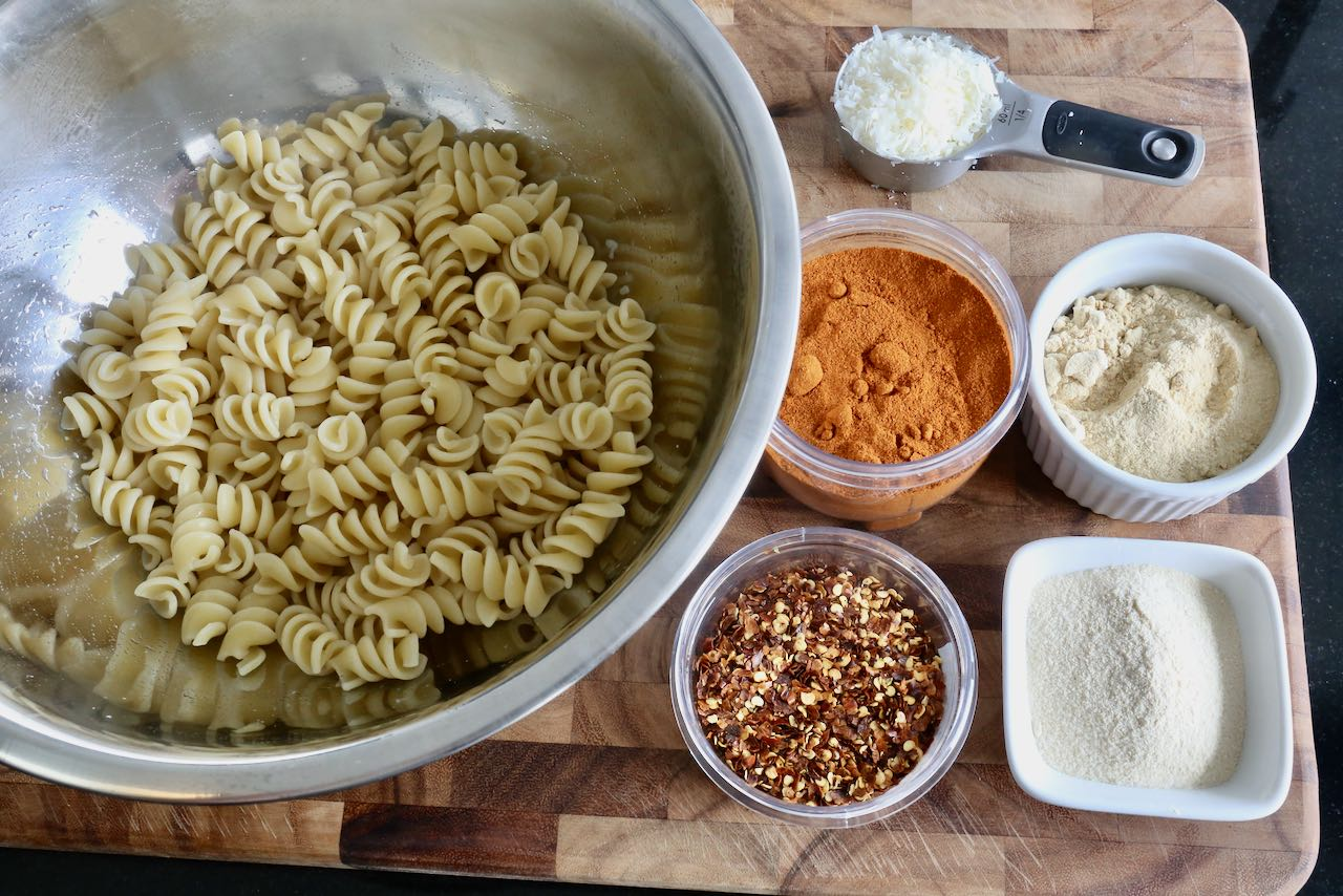 This recipe is prepared with al dente pasta and common spices you'll find in your pantry.