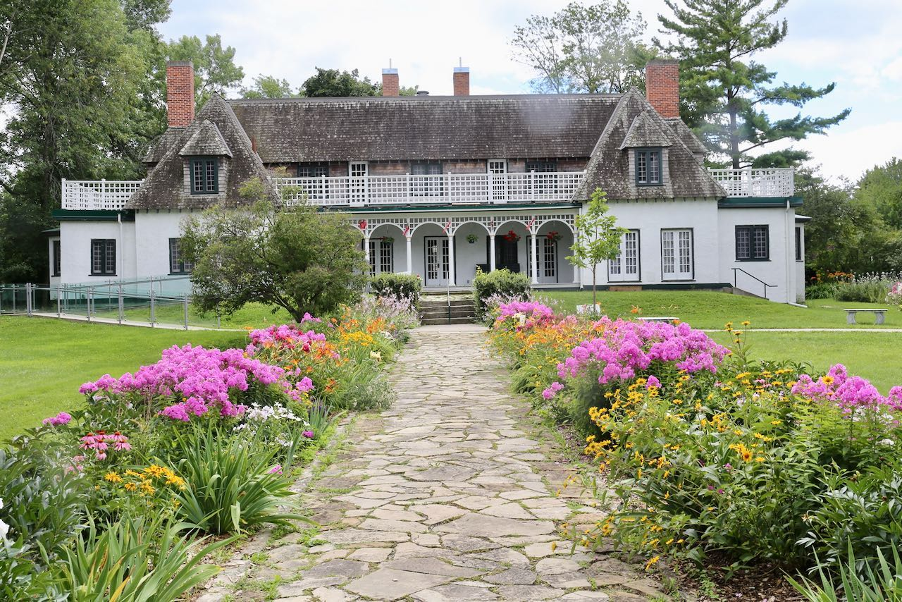 Stephen Leacock Museum is one of the best things to do in Orillia for history buffs and gardening lovers.