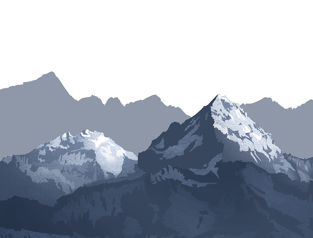 How To Draw Mountains Procreate Tutorial