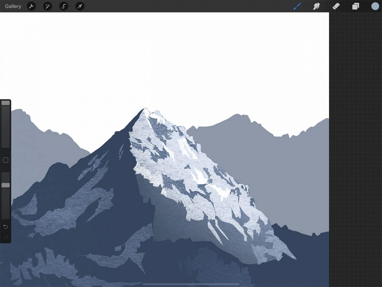 How to Draw Mountains: Snow-capped peaks are easy to capture using Procreate