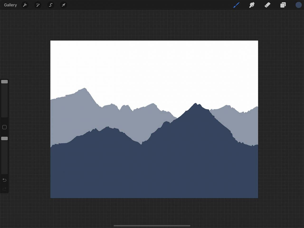 How to Draw Mountains: More faded tones give the impression of objects being further away