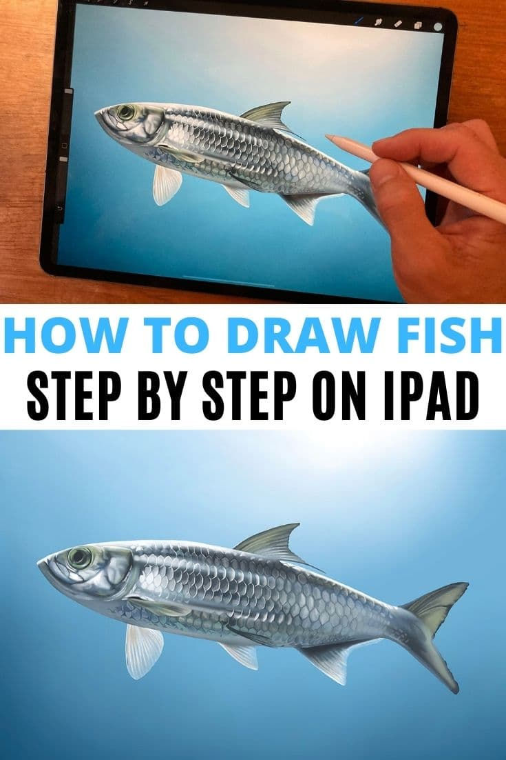 Save our How To Draw A Fish Procreate Tutorial to Pinterest!