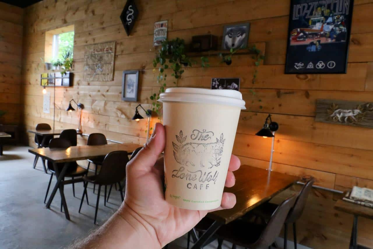 Coffee lovers visit Lone Wolf Cafe in downtown Orillia.