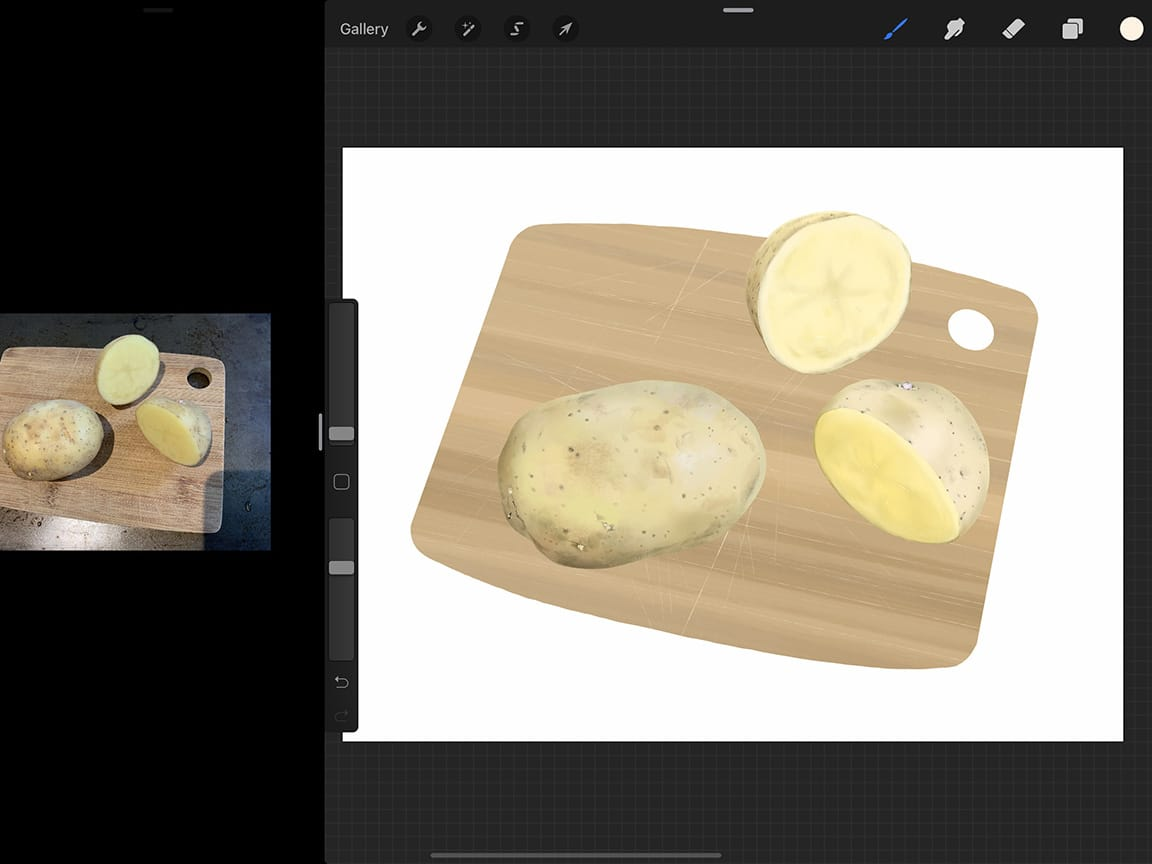 How to Draw Potatoes: Fine details will help your illustration look more realistic