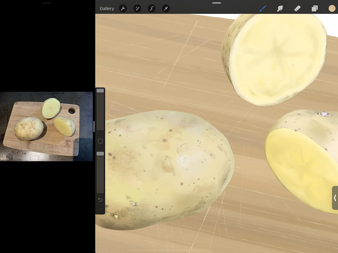 Procreate Tutorial: Zoom in to get your details just right