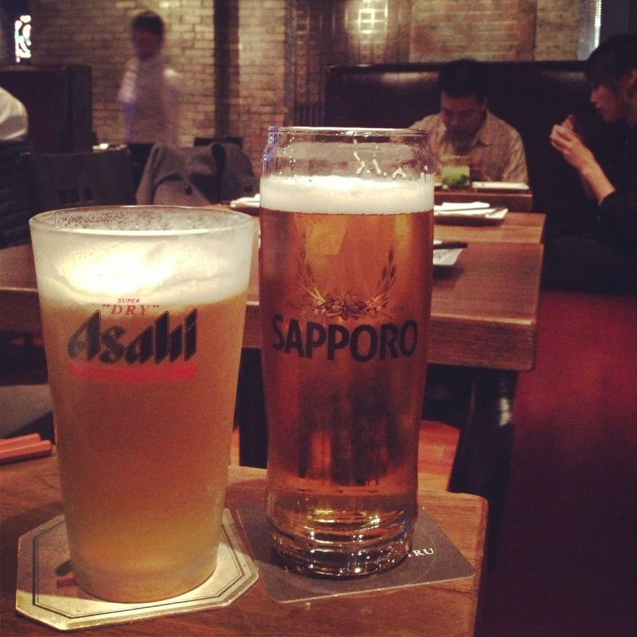 Japanese beer at Kingyo Toronto.